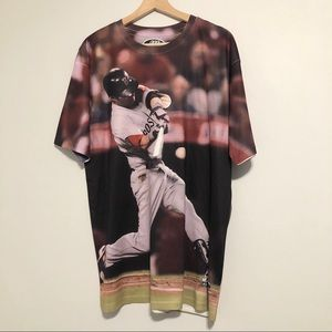 PEDROIA #15 Boston Red Sox T Shirt Size Large